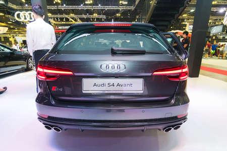 SINGAPORE - JANUARY 12, 2019: Audi S4 Avant at the Singapore Motorshow