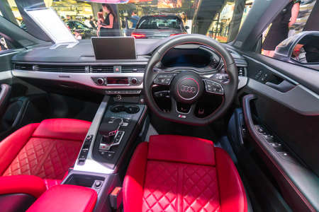 SINGAPORE - JANUARY 12, 2019: Interior from Audi S5 Cabriolet at the Singapore Motorshow