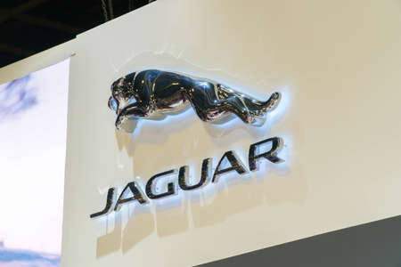 SINGAPORE - JANUARY 12, 2019: Jaguar company logo. Jaguar is a British multinational car manufacturer headquartered in Coventry England.