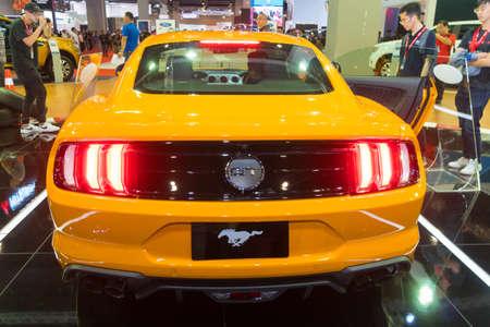 KUALA LUMPUR, MALAYSIA - NOVEMBER 23, 2018: Ford Mustang at Kuala Lumpur Motor Show