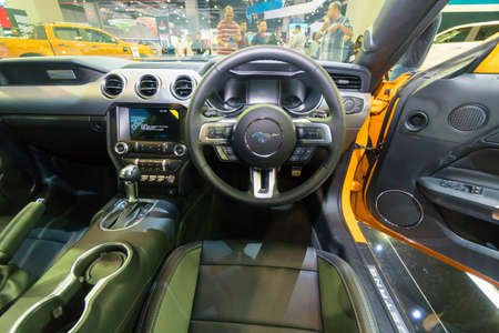 KUALA LUMPUR, MALAYSIA - NOVEMBER 23, 2018: Interior from Ford Mustang at Kuala Lumpur Motor Show