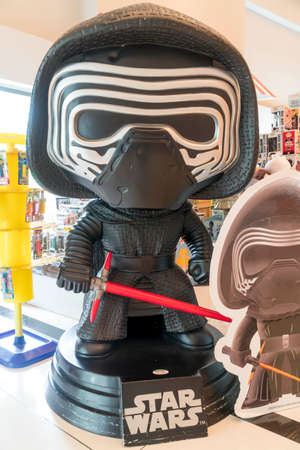 KUALA LUMPUR, MALAYSIA - APRIL 3, 2019: Kylo Ren statue from Star Wars at the cinema