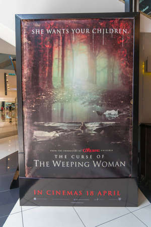 KUALA LUMPUR, MALAYSIA - APRIL 19, 2019: The Curse of The Weeping Woman (The Curse of La Llorona) movie poster, s a 2019 American supernatural horror film
