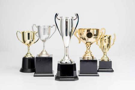 Trophy Cup auf weißem Hintergrund