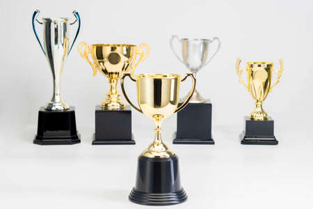 Trophy Cup on white background