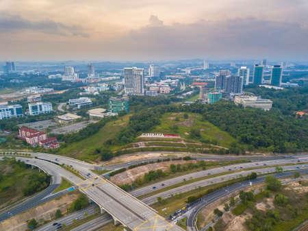 Sunset at Cyberjaya, Malaysia. Cyberjaya is also known as Silicon valley of Malaysia