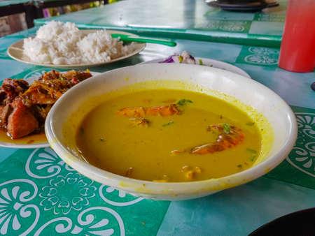 "Malaysian Traditional cuisine, local food called ""gulai lemak"""