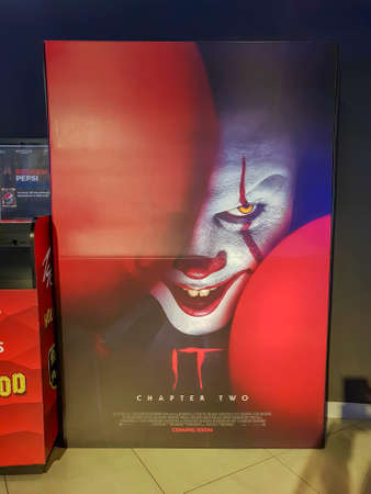 KUALA LUMPUR, MALAYSIA - SEPTEMBER 15, 2019: It Chapter Two movie poster, is a supernatural horror film and sequel based on the novel by Stephen King Editorial