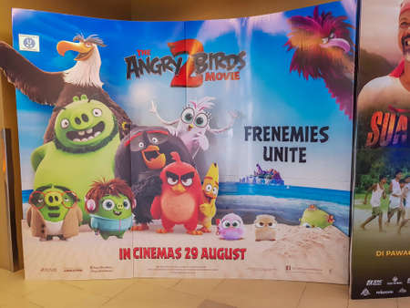 KUALA LUMPUR, MALAYSIA - SEPTEMBER 15, 2019: Angry Bird 2 movie poster. The Angry Birds Movie is a 3D computer-animated action adventure comedy film based on the video game
