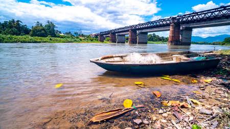Fisherman boat near Victoria Bridge, Kuala Kangsar, Perak, Malaysia