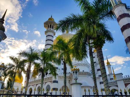Beautiful mosque in Kuala Kangsar, Malaysia during blue hours