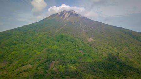Aerial view of Gunung Ile Boleng Adonara, Flores, Indonesia