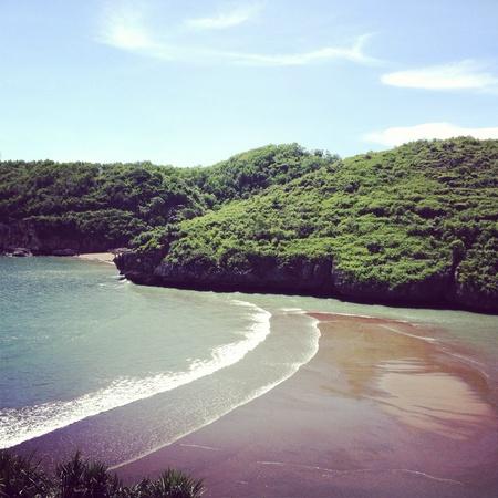 jogjakarta: Beautiful landscape of Barons Beach