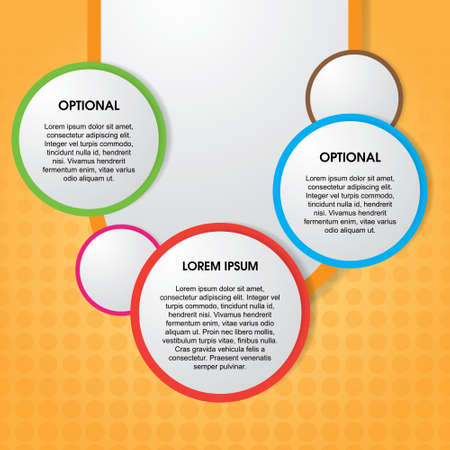 Modern design circle template. For infographics, banner or website. Illustration
