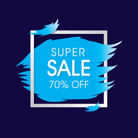 Super sale template design. offer price label.