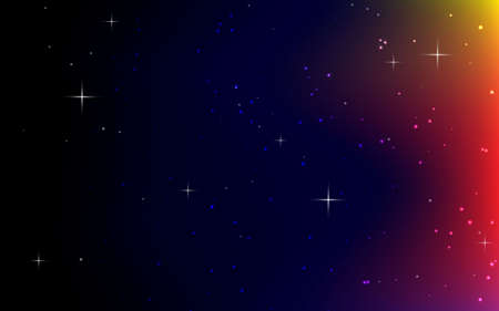 Abstract light background. colorful star light. black background. Stockfoto - 151076810