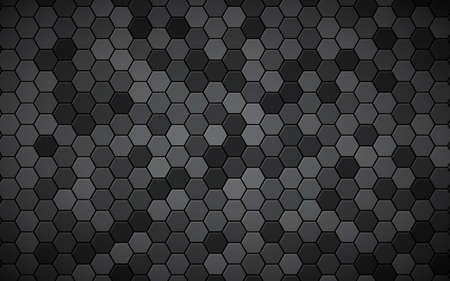 Abstract hexagon black background. Hexagon texture effect. Illustration
