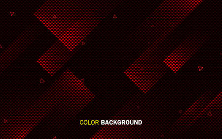 Red abstract geometric background. Dynamic light shape concept. 矢量图像