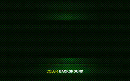 Green abstract geometric background. Dynamic light shape concept.