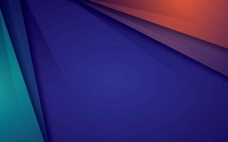 Abstract green orange modern vector background overlap layer on dark blue background