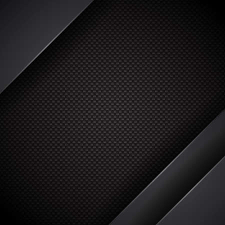 Black abstract geometric background. Tech design composition.