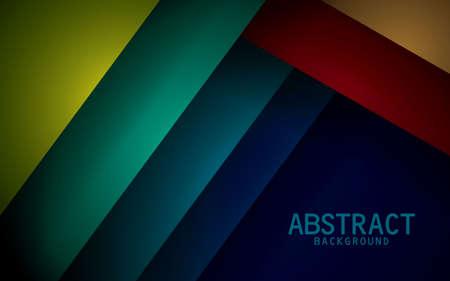Colorful vector background overlap dimension modern design 矢量图像