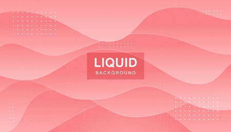 Pink abstract liquid background. Modern shape concept. Stock Illustratie