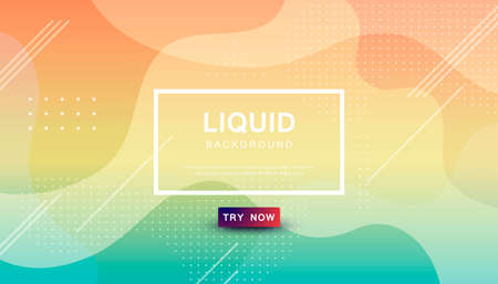 Beauty liquid color background. Dynamic textured geometric element design with dots decoration. Modern gradient light vector illustration.