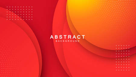 Orange fluid color background. Dynamic textured geometric element. Modern gradient light vector illustration.