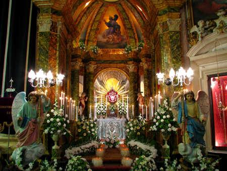 scourging: The Altar of Repose of Cospicua, Malta