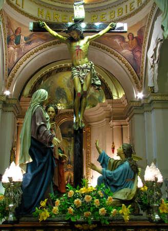 scourging: The Crucifixion, Cospicua - Malta Editorial