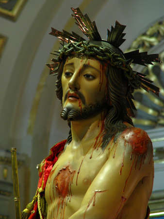 scourging: King Of Kings, Cospicua - Malta Stock Photo