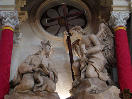 scourging: A stone sculpture of  Jesus in the garden of Gethsemane in Cospicua, Malta  Editorial