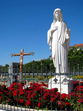 tabernacle: The statue of Oue Lady Queen of Peace, in Medjugorjs, Bosnia - Herzegovina