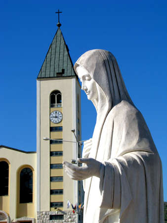 The statue of Oue Lady Queen of Peace, in Medjugorjs, Bosnia - Herzegovina Stock Photo - 13632651