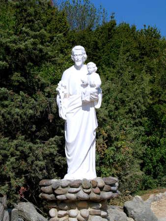 herzegovina: A statue of Saint Joseph in Medjugorje, Bosnia - Herzegovina