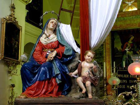 our lady of sorrows: The statue of Our Lady of Sorrows in Valletta, Malta