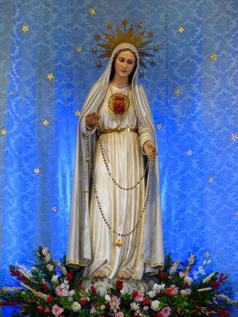 The statue of Our Lady of Fatima in Gwardamangia, Malta. Stock Photo - 13940709