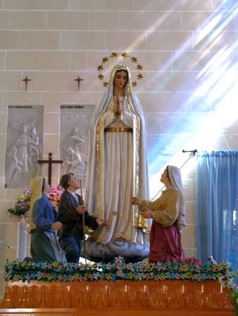 of our lady: The statue of Our Lady of Fatima in Gwardamangia, Malta.