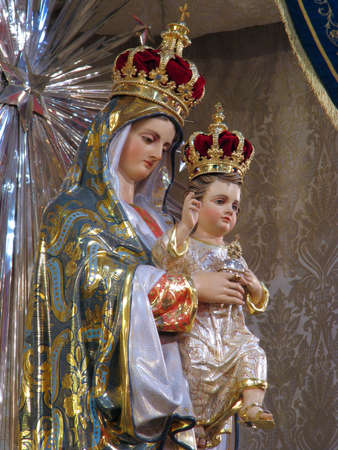 A detail of the statue of Our Lady of the Sacred Heart of Jesus displayed in Sliema, Malta Stock Photo - 14244269