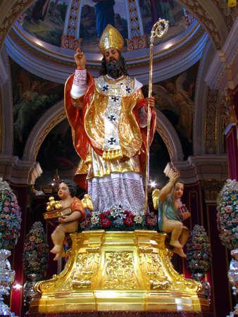 'saint nicholas':  The statue of Saint Nicholas in Siggiewi, Malta