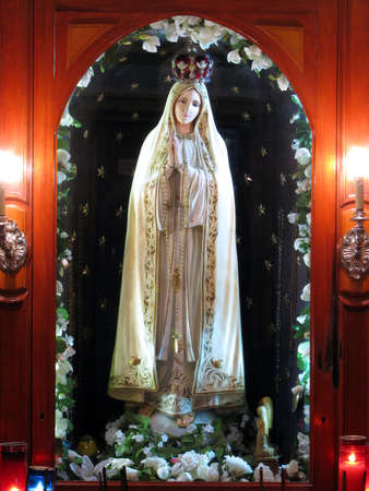 of our lady: A statue of Our Lady of Fatima in Valletta, Malta.