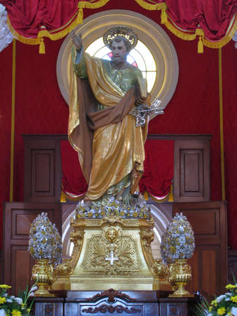 The statue of Saint Peter of Birzebbugia, Malta. Stock Photo - 14762319