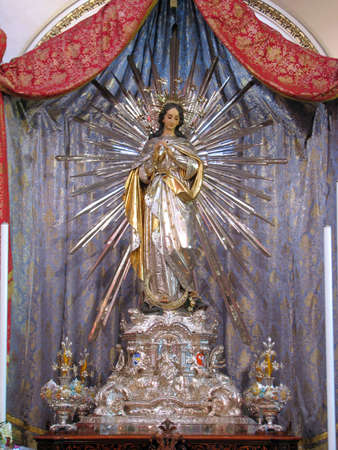 immaculate: The statue of The Immaculate Conception in Cospicua, Malta.