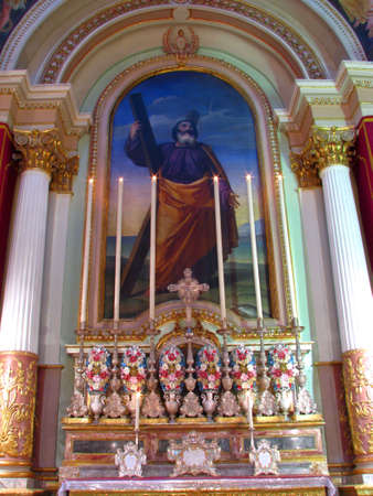 A painting of Saint Andrew in Siggiewi, Malta.