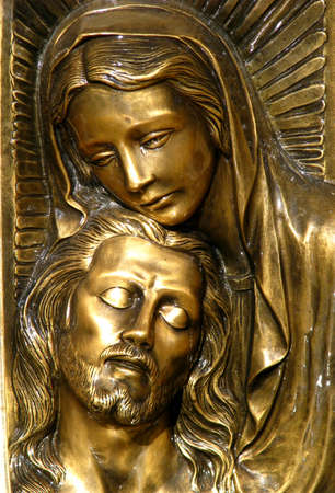 our lady of sorrows: A bas-relief of Our Lady of Sorrows in Gozo, Malta
