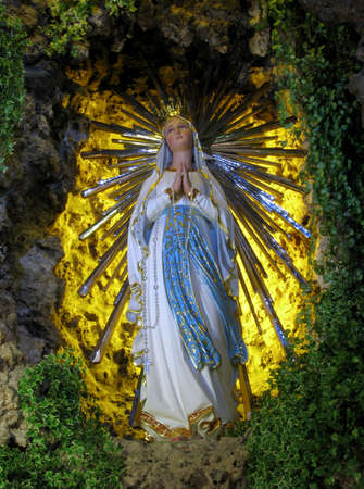 of our lady: A statue of Our Lady of Lourdes in Floriana, Malta