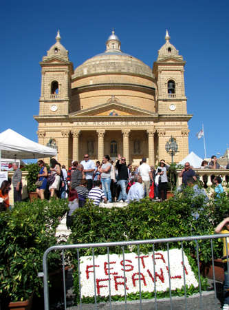annually: The Straberry Feast which is held annually in Mgarr, Malta  Editorial