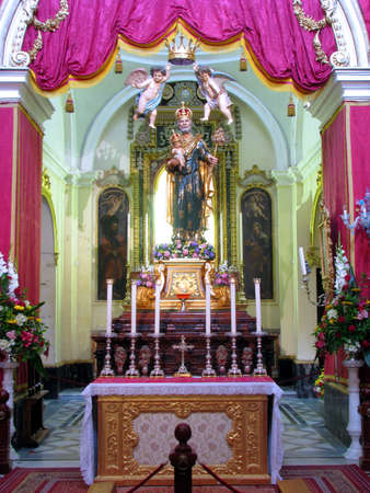 adoptive: The crowned statue of Saint Joseph in Rabat, Malta