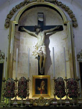 flagellation: An old crucifix in Rabat, Malta
